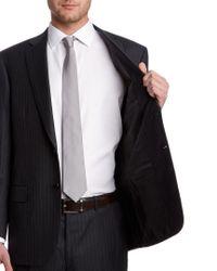 Brioni - Gray Pinstripe Wool Suit for Men - Lyst