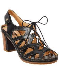Pikolinos - Black Java Leather Sandal - Lyst