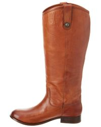 Frye - Brown Melissa Tall Leather Boot - Lyst