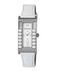 Swarovski - Lovely Crystals Square White Watch - Lyst