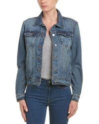 Lea & Viola - Blue Lace-up Denim Jacket - Lyst