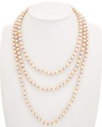 Carolee - Multicolor Peach Blossom 12k Plated Rope 70in Necklace - Lyst
