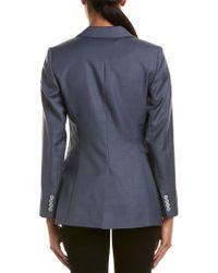 Reiss Blue Leyton Tailored Wool Jacket