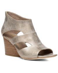 Donald J Pliner Brown Jenkin Leather Wedge Sandal