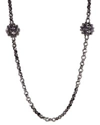 Stephen Webster Metallic Silver & Rhodium 46in Necklace