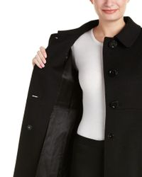 Cinzia Rocca | Black Wool-blend Coat | Lyst