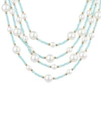 Saachi - Metallic Beaded Necklace - Lyst