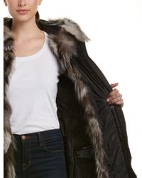 Dawn Levy - Black Naomi Long Parka With Fur Hood - Lyst