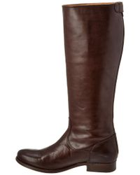 Frye - Brown Melissa Button Back-zip Boot - Lyst
