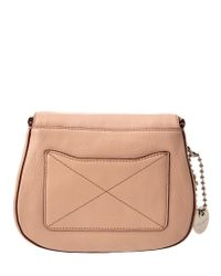 Marc Jacobs - Natural Recruit Small Leather Saddle Bag - Lyst