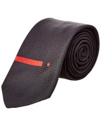 Givenchy - Black & Red Star Silk Tie for Men - Lyst