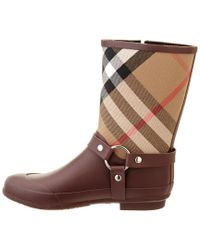 Burberry - Brown House Check Rainboot - Lyst