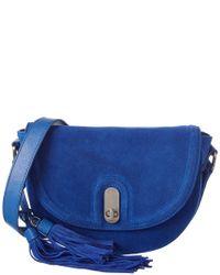Sorial Blue Noah Leather Saddle Bag