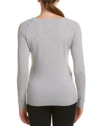 Forte - Gray Cashmere Pullover - Lyst
