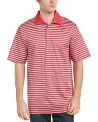 Peter Millar - Red Heritage Lisle Polo for Men - Lyst