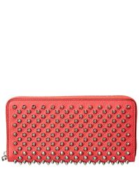 Christian Louboutin - Red Panettone Leather Zip Around Wallet - Lyst