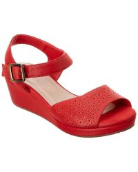 Chocolat Blu - Red Yin Leather Wedge Sandal - Lyst