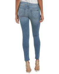 Hudson Jeans Blue Krista Essence Raw Hem Ankle