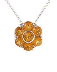 Pasquale Bruni Metallic 18k Gemstone Necklace