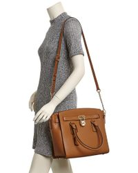 MICHAEL Michael Kors - Brown Hamilton Large W/w Leather Tote - Lyst
