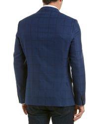 Ike Behar Blue Wool Sportcoat for men