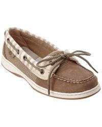 Sperry Top-Sider - Natural Women's Angelfish Stripe Leather Boat Shoe - Lyst