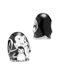 Pandora - Multicolor Silver Enamel Penguin Family Charm - Lyst