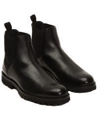 Frye - Black Men's Edwin Leather Chelsea Boot for Men - Lyst