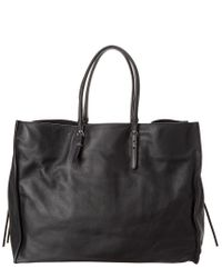 Balenciaga - Black Papier A4 Zip Around Leather Tote - Lyst