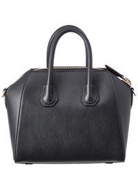 Givenchy - Black Small Studded Antigona Leather Satchel - Lyst
