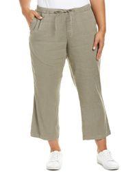 NYDJ | Multicolor Plus Sergeant Olive Drawstring Linen-blend Ankle Pant | Lyst