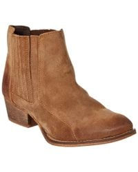 Charles David | Brown Yale Suede Bootie | Lyst