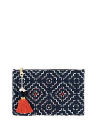 Shiraleah Blue Azra Zip Pouch