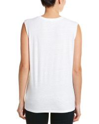 Pam & Gela - White Slash Neck Tank - Lyst