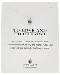 Dogeared - Metallic 14k Over Silver To Love And To Cherish Necklace - Lyst
