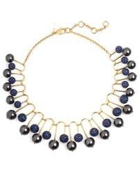 Lele Sadoughi - Blue 14k Plated Hematite & Crystal Statement Necklace - Lyst
