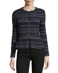 Rebecca Taylor - Blue Lurex Tweed Jacket - Lyst