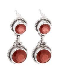Samuel B. - Red Silver 6.30 Ct. Tw. Garnet Earrings - Lyst