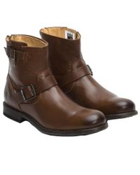 Frye - Brown Men's Tyler Leather Engineer Boot for Men - Lyst