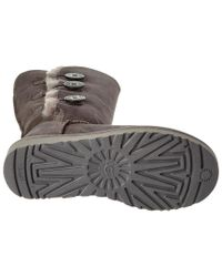 Ugg - Gray Women's Bailey Button Triplet Ii Water-resistant Twinface Sheepskin Boot - Lyst