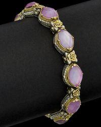 Konstantino - Multicolor Iliada 18k & Silver 30.00 Ct. Tw. Mother-of-pearl Gemstone Doublet Bracelet - Lyst