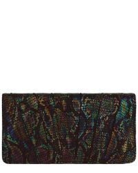 Inge Christopher - Black Zelda Leather Miniaudiere Clutch - Lyst