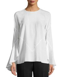 Givenchy - White Angel Silk Top - Lyst