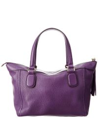 Gucci - Purple Leather Soho Tote - Lyst