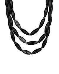 Di Modolo - Metallic Silver Agate Necklace - Lyst
