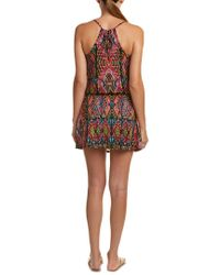 Nanette Lepore - Black Mayan Mosaic Cover-up Dress - Lyst
