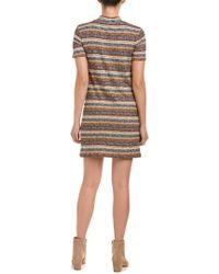 BCBGeneration - Gray Striped Sweaterdress - Lyst