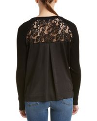 French Connection - Black Lace-back Sweater - Lyst