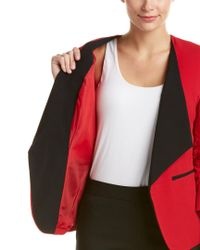 Nine West - Red Ruched-sleeve Blazer - Lyst