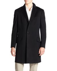 Saks Fifth Avenue - Black Collection Wool & Cashmere Coat for Men - Lyst